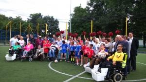 photo d'ensemble  du foot pour tous