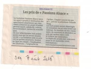 article sur Avançons Ensemble 2016