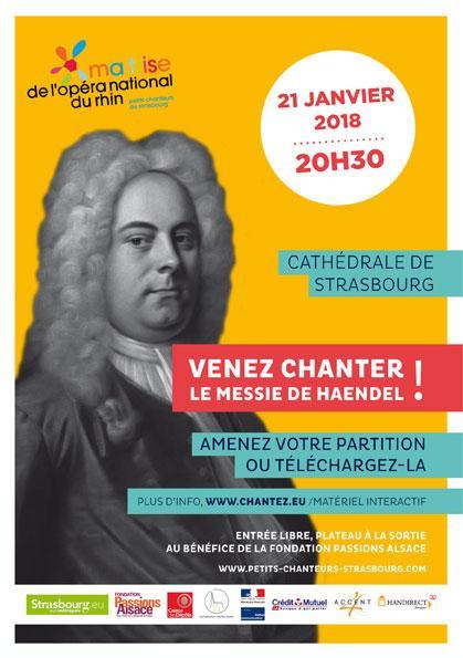 Affiche du concert de la maitrise de Strasbourg