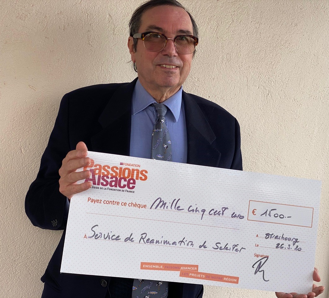 La Fondation Passions Alsace fait un don à l'hôpital de Selesta